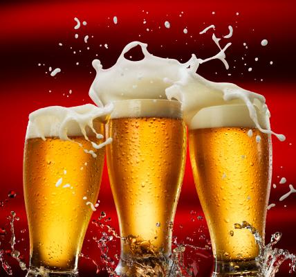 Beer - Alcohol「Three Beer Glasses」:スマホ壁紙(13)