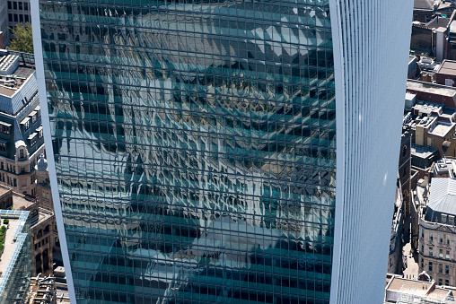 Postmodern「The glass concaved side of 20 Fenchurch Street in London seen from above」:スマホ壁紙(3)