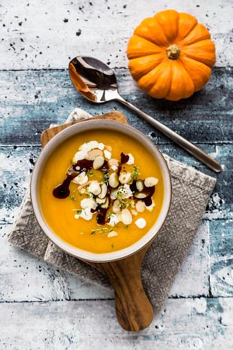 Nut - Food「Bowl of creamed pumpkin soup」:スマホ壁紙(11)