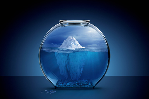 Surreal「Glacier in fishbowl」:スマホ壁紙(9)