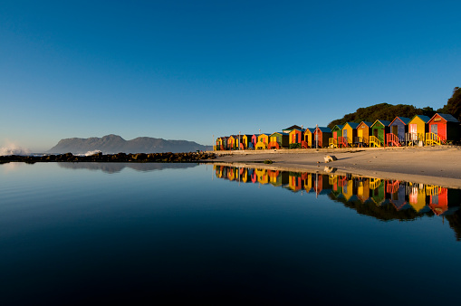 South Africa「Colorful houses seaside landscape」:スマホ壁紙(10)