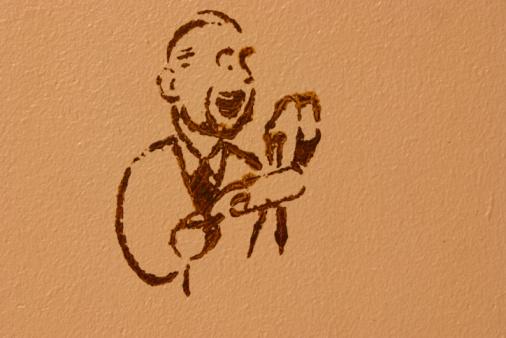Singer「Wall painting of male singer」:スマホ壁紙(18)