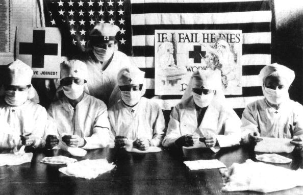 Flu Virus「Red Cross volunteers fighting against the spanish flu epidemy in United States in 1918」:写真・画像(0)[壁紙.com]
