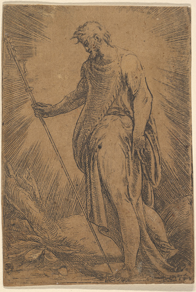 Etching「An Apostle Holding A Staff Facing Left」:写真・画像(7)[壁紙.com]