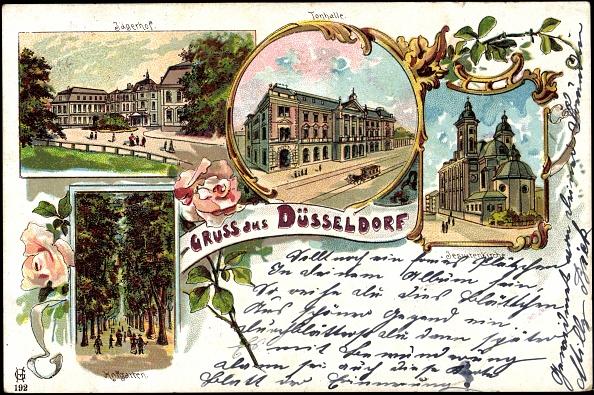 1900「Litho Düsseldorf, Jägerhof, Tonhalle, Hofgarten, Kirche」:写真・画像(19)[壁紙.com]