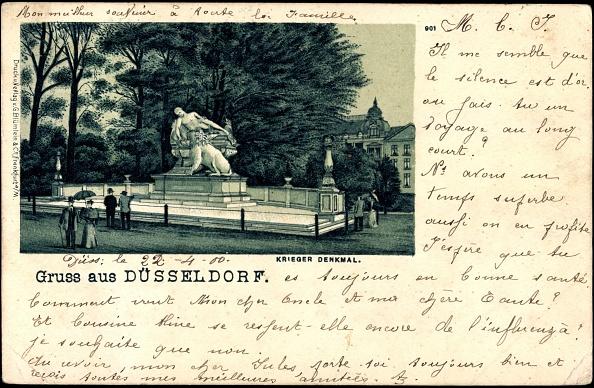 1900「Litho Düsseldorf, Spaziergänger am Krieger Denkmal」:写真・画像(8)[壁紙.com]