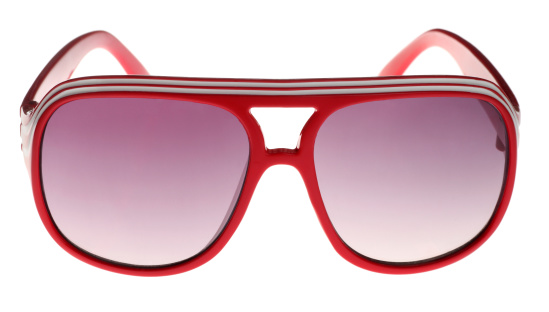 Funky「Red Seventies Style Sunglasses on White」:スマホ壁紙(4)
