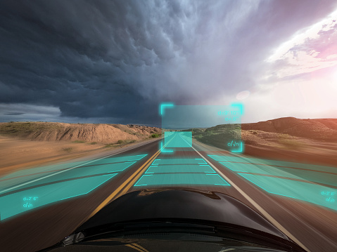 Internet of Things「Self driving autonomous car driving in bad weather, USA」:スマホ壁紙(3)