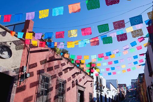 Mexico「Decorative colourful paper flags」:スマホ壁紙(7)