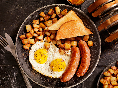 Sausage「Breakfast with Sunny side up eggs and Sausage」:スマホ壁紙(2)
