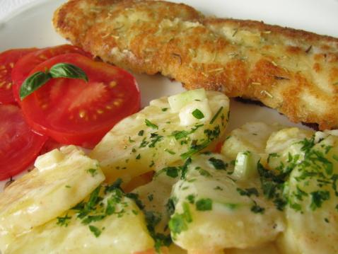 Pollock - Fish「Fish fillet with potato salad」:スマホ壁紙(0)