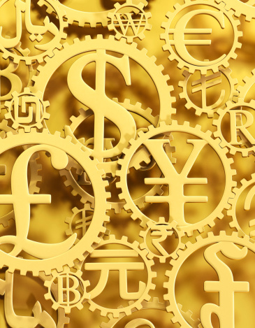 Currency Symbol「Gold currency symbol cogs vertical」:スマホ壁紙(2)