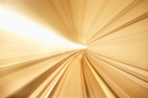 Denmark「Denmark, Copenhagen, blurred view of underground metro tunnel」:スマホ壁紙(2)