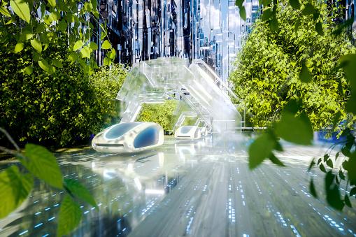 Internet of Things「Futuristic green energy autonomous traffic」:スマホ壁紙(19)