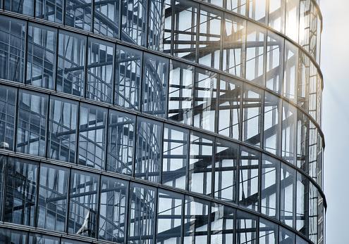 Postmodern「Futuristic spiral glass and steel building」:スマホ壁紙(11)