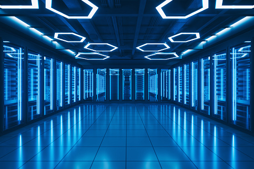Data Center「Futuristic Data Center Server Room」:スマホ壁紙(1)