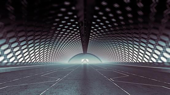 Hexagon「Futuristic arena background」:スマホ壁紙(12)