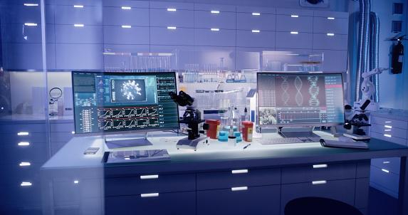 Virus「Futuristic laboratory equipment - brainwave scanning research」:スマホ壁紙(2)