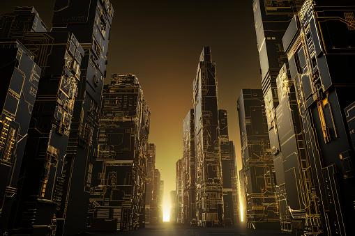 Art「Futuristic City - landscape」:スマホ壁紙(0)