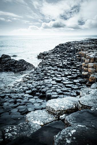 Northern Ireland「abstract rocks at giants causeway coastline in northern ireland」:スマホ壁紙(10)