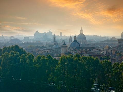 Lazio「View of Rome at sunrise」:スマホ壁紙(19)