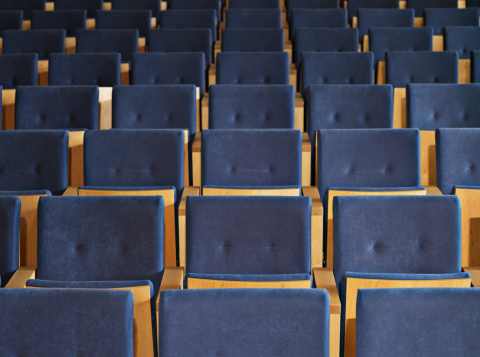 Auditorium「Rows of empty seats in conference room」:スマホ壁紙(7)