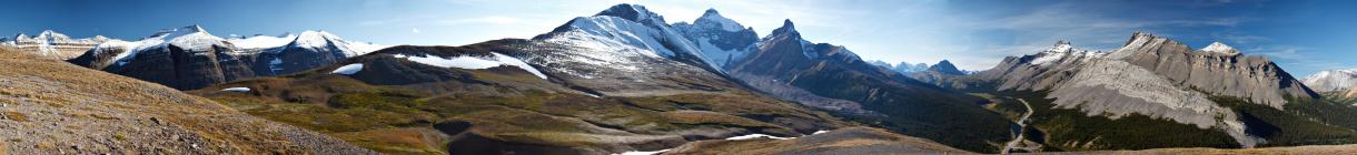 アサバスカ山「壮大なロッキー山脈の頂上の風景」:スマホ壁紙(5)