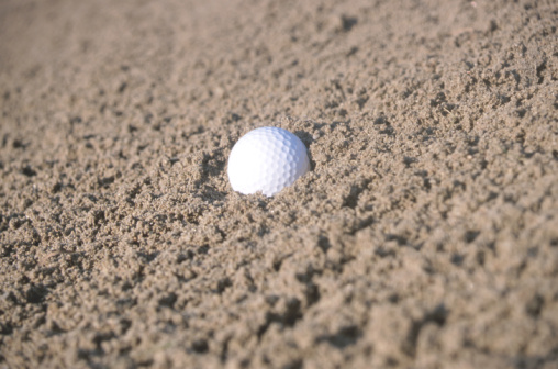 Sand Trap「Golf ball in sand trap」:スマホ壁紙(1)