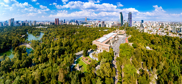 Mexico「Aerial View of Mexico City skyline from Chapultepec Park」:スマホ壁紙(17)