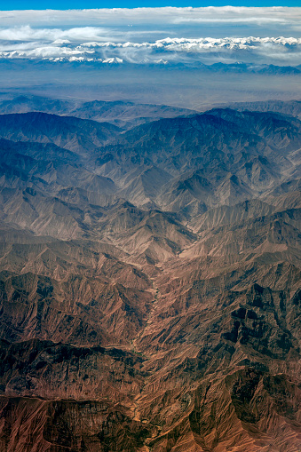 Himalayas「Aerial View of Tibet and Taklamakan Desert in China,Central Asia」:スマホ壁紙(0)