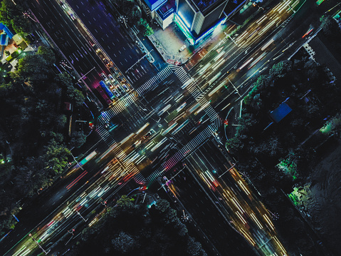 Big Data「Aerial View of Overpass and City Traffic at Rush Hour」:スマホ壁紙(6)