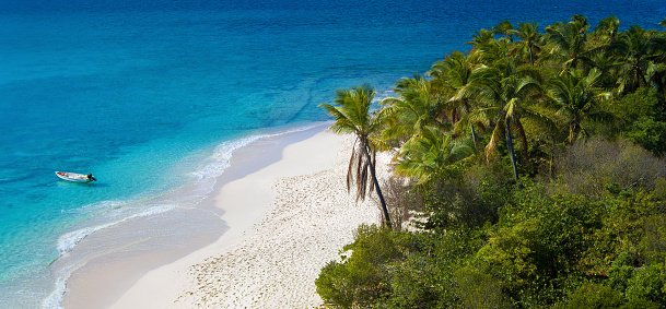 Caribbean「aerial view of Sandy Cay, British Virgin Islands」:スマホ壁紙(2)