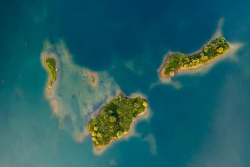Belt「Aerial view of crushed stone quarry island」:スマホ壁紙(0)