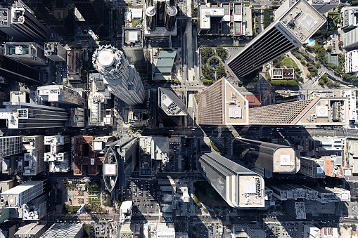 City Of Los Angeles「Aerial view of city, Los Angeles, Los Angeles County, California, USA」:スマホ壁紙(1)