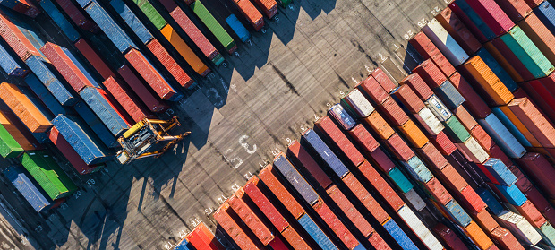 Shipping「Aerial view of Container port」:スマホ壁紙(13)