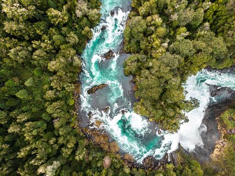 環境「チリ南部のフイロ・フイロ川の航空写真」:スマホ壁紙(13)