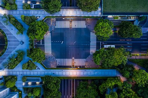 Shinbashi - Tokyo「Aerial view of central Tokyo, twilight」:スマホ壁紙(17)