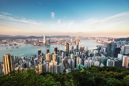Hong Kong「Aerial View of Hong kong」:スマホ壁紙(10)