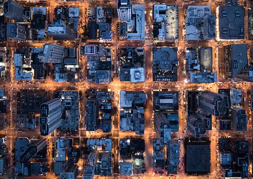 Development「Aerial View of Chicago, IL, USA」:スマホ壁紙(1)