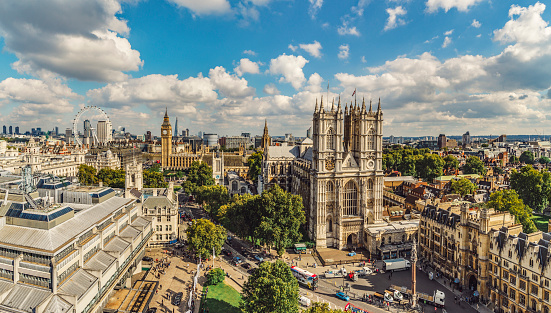 Supreme Court「Aerial view of Westminster Abbey and Big Ben」:スマホ壁紙(7)