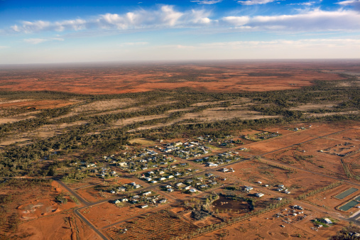Queensland「Aerial view of Thargomindah, Queensland, Australia」:スマホ壁紙(3)