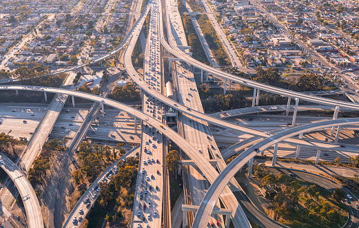 City Of Los Angeles「Aerial View of Freeway Intersection in Los Angeles」:スマホ壁紙(14)