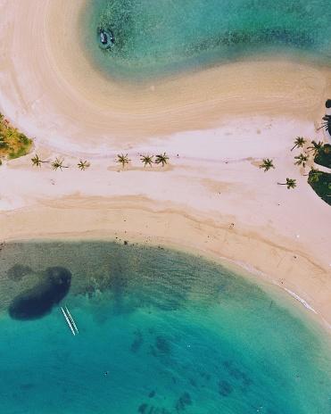 Pacific Islands「Aerial view of Waikiki beach, Oahu, Hawaii, America, USA」:スマホ壁紙(11)