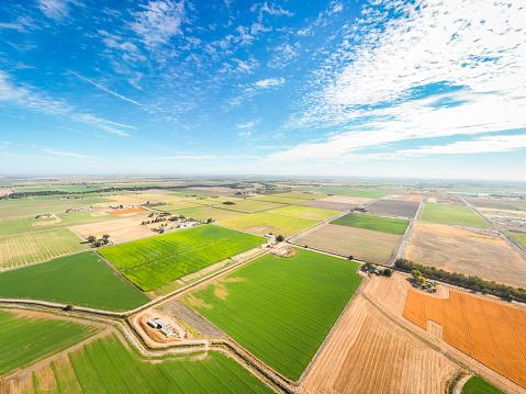 田畑「カリフォルニアの農地の航空写真」:スマホ壁紙(2)