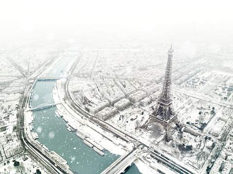 French Culture「Aerial view of the Eiffel tower」:スマホ壁紙(8)