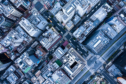 Businessman「Aerial view in urban areas.」:スマホ壁紙(14)