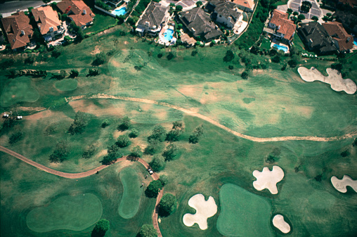 Sand Trap「Aerial view of golf course」:スマホ壁紙(18)