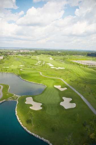 Sand Trap「Aerial view of golf course」:スマホ壁紙(6)