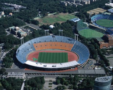 Stadium「Aerial view of Tokyo, Japan」:スマホ壁紙(9)