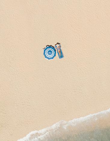 バケーション「ビーチの空中風景」:スマホ壁紙(3)